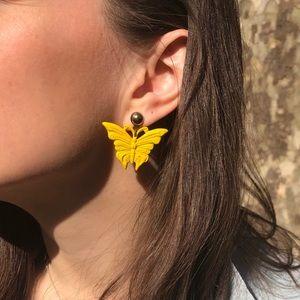 Deadstock Vintage Butterfly Dangle Earrings